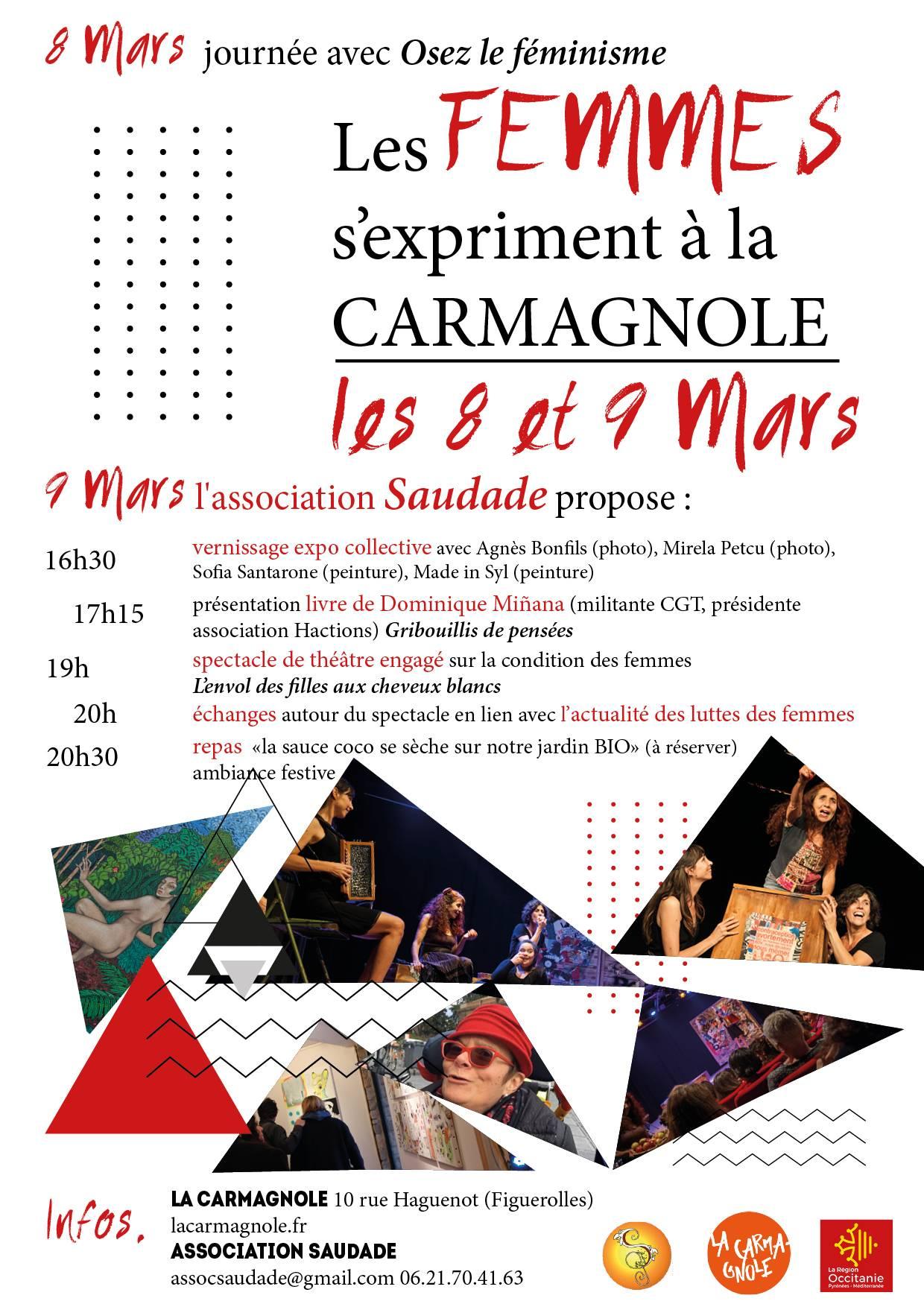 affiche web saudade 9 mars carmagnole 1 - Place aux femmes
